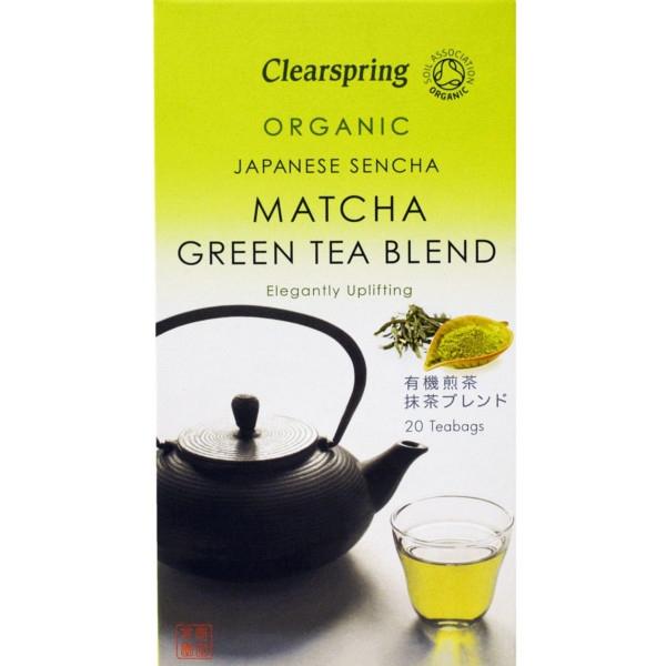 Βιολογικό Πράσινο Τσάι Matcha, 20 Φακελάκια, Bio, Clearspring