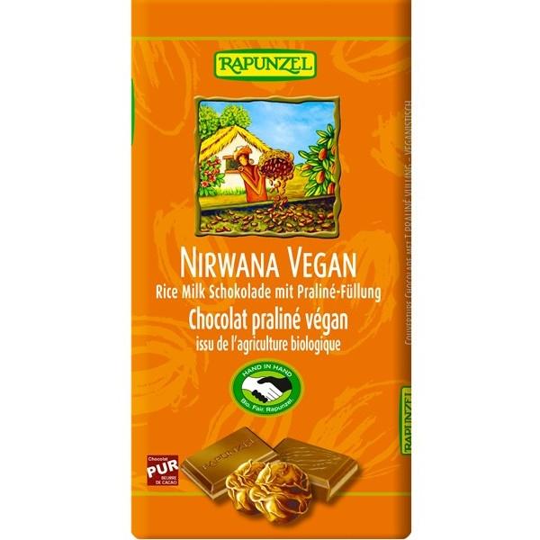 Βιολογική Σοκολάτα Nirvana, Vegan, 100γρ., Bio, Rapunzel