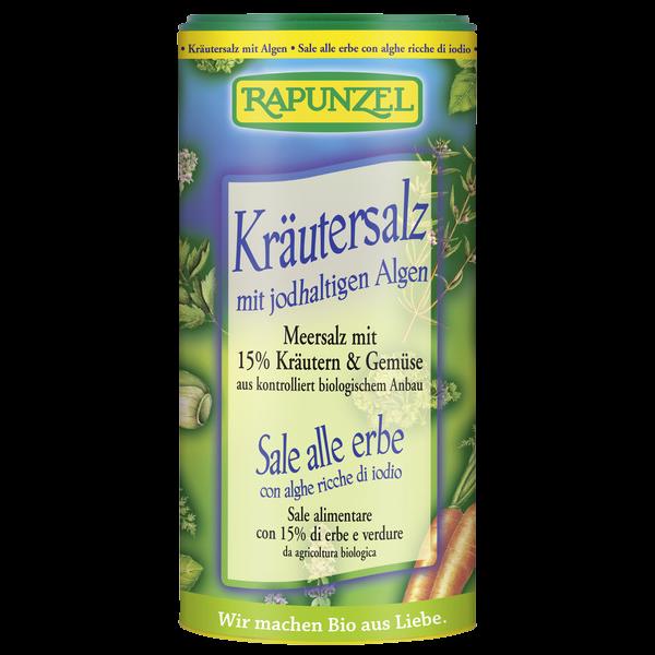 Αλάτι με Βιολογικά Βότανα & Φύκια σε Αλατιέρα, 125γρ., Rapunzel