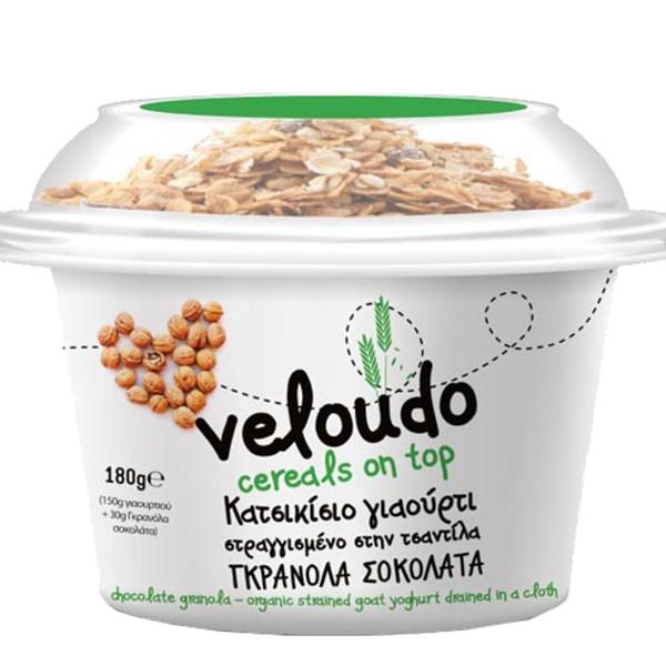 Βιολογικό Κατσικίσιο Γιαούρτι με Γρανόλα Σοκολάτας , 180 γρ., Bio, Βελούδο