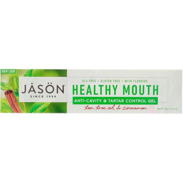 Οδοντόκρεμα κατά της Οδοντικής Πλάκας, με Φθόριο, 170ml, Jason