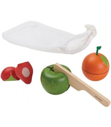 Σετ Φρούτων, Plantoys, Ξύλινο, Οικολογικό, Εκπαιδευτικό, Παιχνίδι