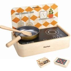 Φορητή Κουζίνα, Plantoys, Ξύλινο, Οικολογικό, Εκπαιδευτικό, Παιχνίδι