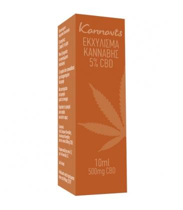 Εκχύλισμα Κάνναβης 5% CBD 10ml, Kannavis