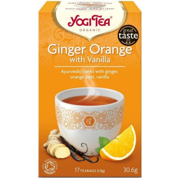 Βιολογικό Τσάι με Τζίντζερ & Πορτοκάλι 30 γρ., Yogi Tea