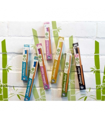 Οδοντόβουρτσα Μαλακή από Μπαμπού Μαύρη, Bamboo Smiles