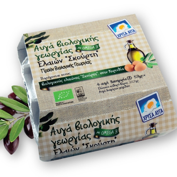 Βιολογικά Αυγά με Ω3, 4 τεμάχια, Bio, Ελαιών Σκούρτη