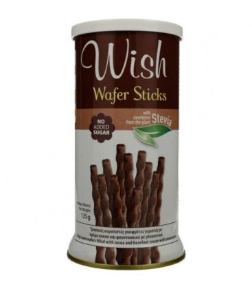 Wafer Sticks με Στέβια 135 γρ., Wish