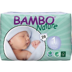 Πάνες Bambo Nature No1 Newborn, 2-4 κιλά, 28τεμ