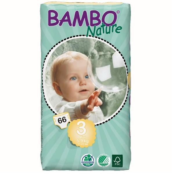 Πάνες Bambo Nature Midi 5-9kg, 66τεμ.