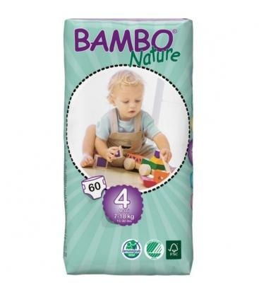 Πάνες Bambo Nature, No4 Tall Maxi, 7-18kg 60τεμ.