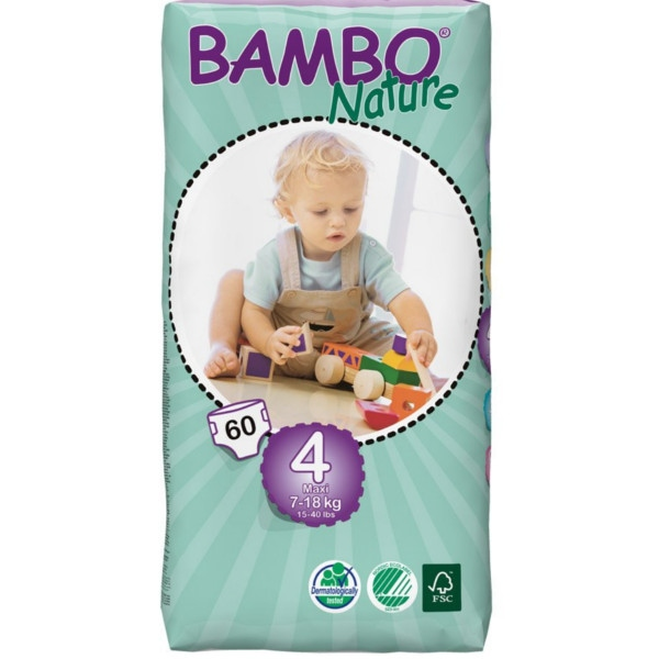 Πάνες Bambo Nature, No4 Tall Maxi, 7-18kg 60τεμ.