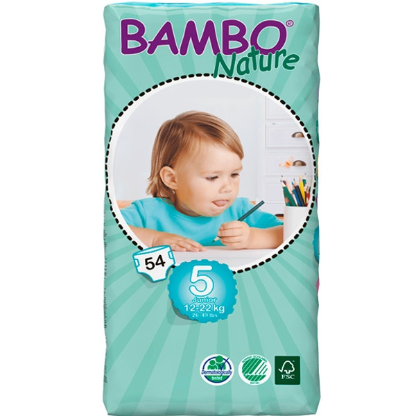 Πάνες Bambo Natural, No5 Tall Junior, για 12-22 κιλά, 54τεμ.