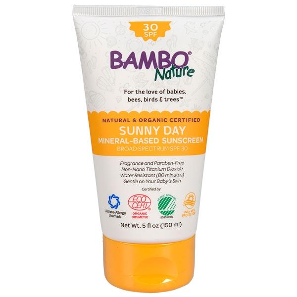 Βιολογική Βρεφική Αντηλιακή Κρέμα Sunny Day SPF30, 150ml, Bambo Nature