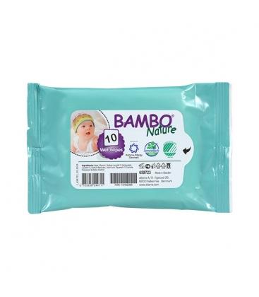 Μωρομάντηλα Τσέπης 10 Τεμάχια, Bambo Nature
