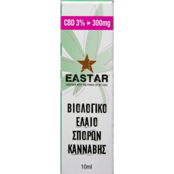 Βιολογικό Εκχύλισμα Σπόρων Κάνναβης, με 3% CBD, 10ml, Bio, Eastar