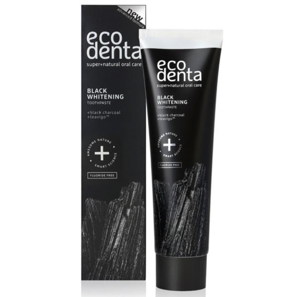 Βιολογική Μαύρη Οδοντόκρεμα Λεύκανσης με Άνθρακα & Teavigo, 100ml, Ecodenta