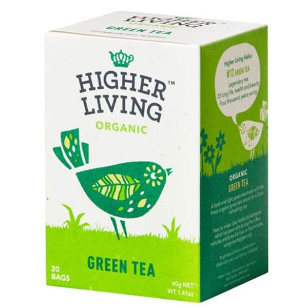 Βιολογικό Πράσινο Τσάι 20 Φακελάκια, 40 γρ., Bio, Higher Living