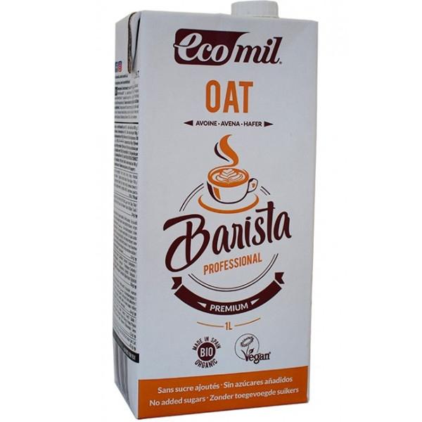 Βιολογικό Ρόφημα Βρώμης Barista, Χωρίς Ζάχαρη, 1 λίτρο, Bio, Ecomil