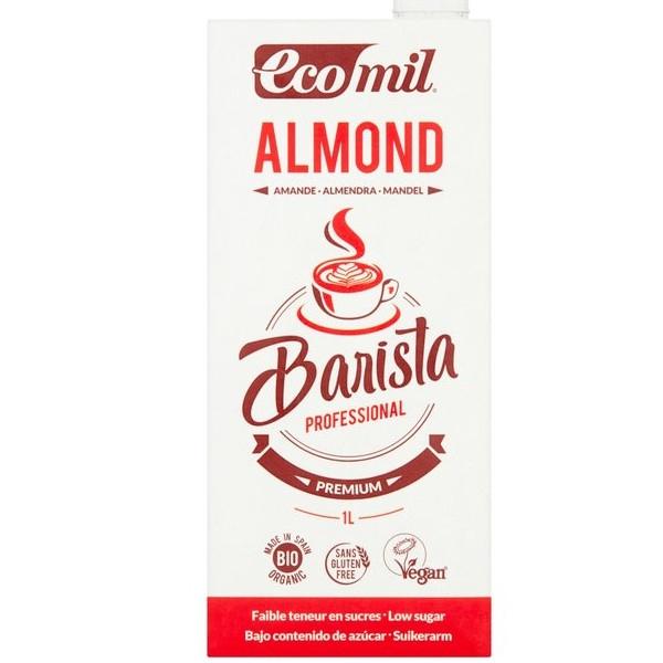 Βιολογικό Ρόφημα Αμυγδάλου Barista, Χωρίς ζάχαρη, 1 λίτρο, Ecomil