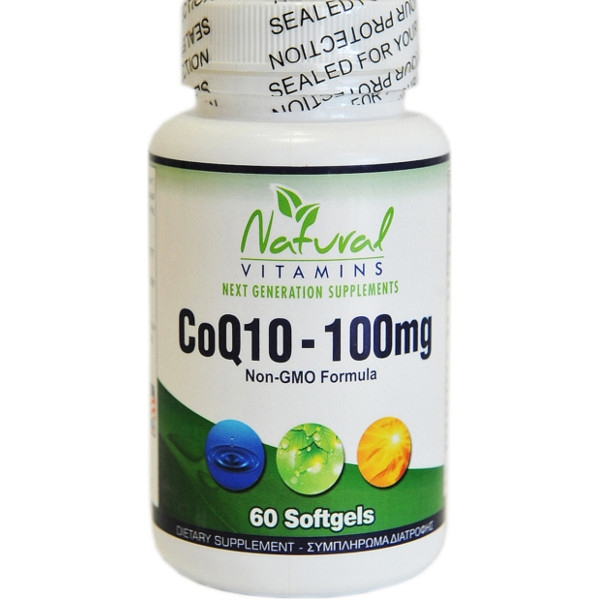 CoQ10 100mg, 60 Μαλακές Κάψουλες, Natural Vitamins