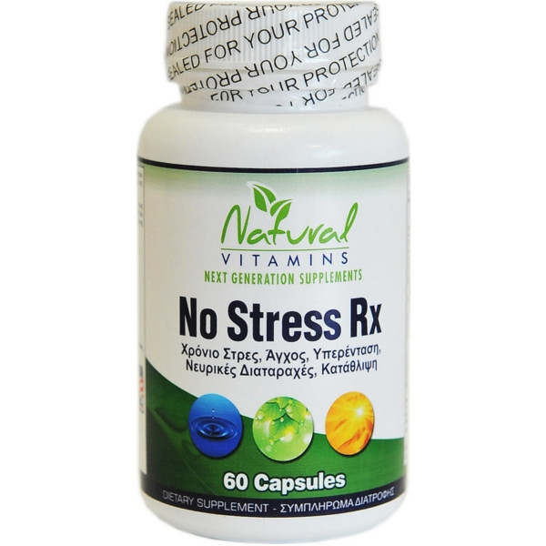 No Stress Rx 60 Κάψουλες, Natural Vitamins