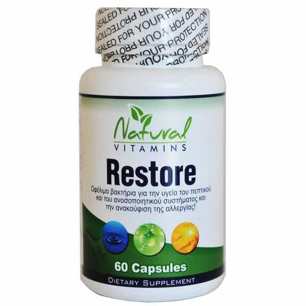 Restore 60 Κάψουλες, Natural Vitamins