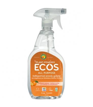 Βιολογικό Υγρό Γενικού Καθαρισμού Πορτοκάλι 650ml, Ελληνικό, Ecos - Earth Friendly