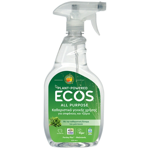 Βιολογικό Υγρό Γενικού Καθαρισμού με Μαϊντανό 650ml, Ecos - Earth Friendly