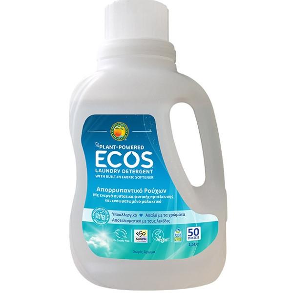 Βιολογικό Υγρό Πλυντηρίου Ρούχων Χωρίς Αρωμα 1.5lt, Ελληνικό, Ecos - Earth Friendly