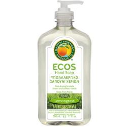 Βιολογικό Υγρό Σαπούνι Χεριών με Bio Λεμονόχορτο 500ml, Ecos - Earth Friendly