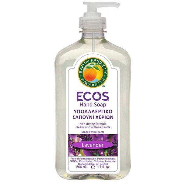 Βιολογικό Υγρό Σαπούνι Χεριών με Bio Λεβάντα 500ml, Ελληνικό, Ecos - Earth Friendly