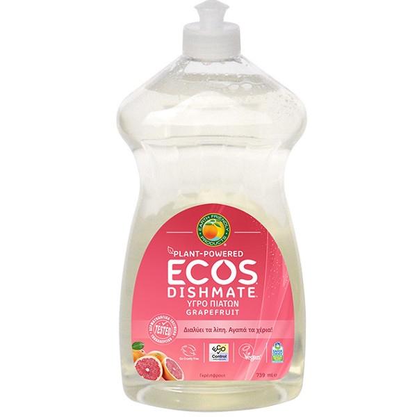 Βιολογικό Υγρό Πιάτων με Bio Γκρεϊπφρουτ 739ml, Ecos - Earth Friendly