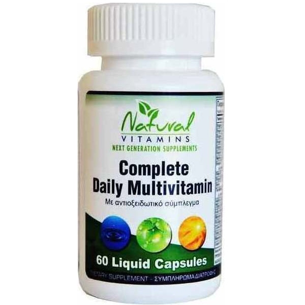 Complete Daily Multivitamins 60 Κάψουλες, Natural Vitamins