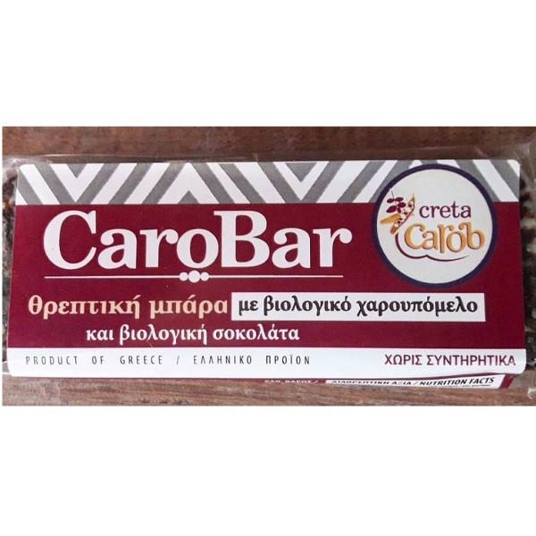 Μπάρα με Βιολογικό Χαρουπόμελο & Σοκολάτα 45 γρ., Ελληνική, Creta Carob