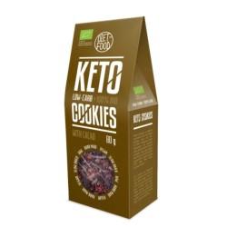 Βιολογικά Μπισκότα (Cookies) Keto με Κακάο, 80 γρ., Bio, Diet Food