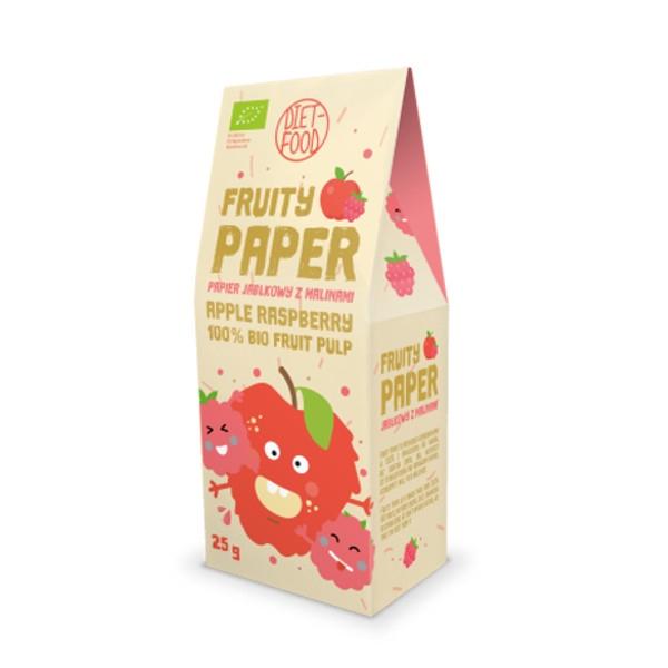 Fruity Paper με Μήλο & Σμέουρο, 25 γρ., Bio, Diet Food
