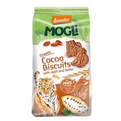 Βιολογικά Μπισκότα Ζωάκια με Κακάο Χωρίς Ζάχαρη Bio 125γρ., Mogli