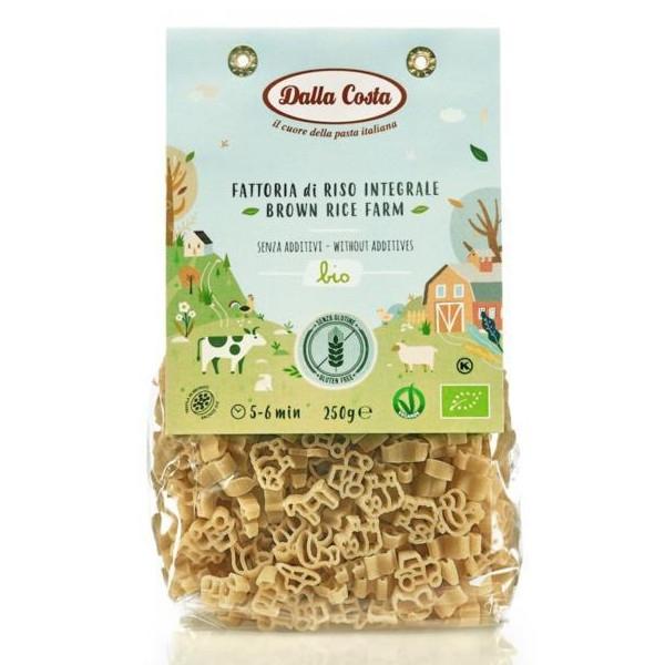 """Βιολογικά Ζυμαρικά """"Φάρμα"""", από Καστανό Ρύζι, Χωρίς Γλουτένη, 250 γρ., Bio, Dalla Costa"""