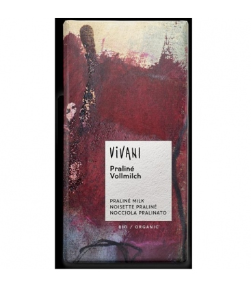 Βιολογική Σοκολάτα με Γέμιση Πραλίνα Bio 100γρ., Vivani