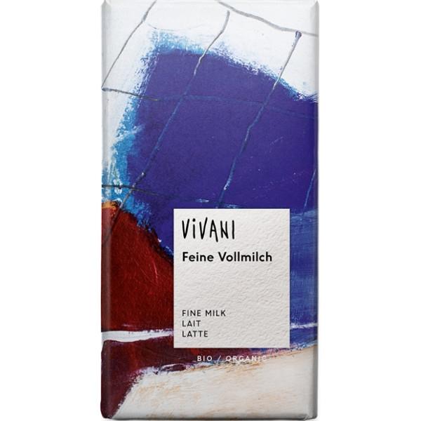 Βιολογική Σοκολάτα Γάλακτος Bio 100γρ., Vivani