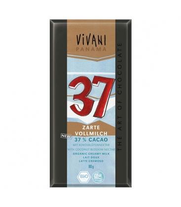 Βιολογική Σοκολάτα Γάλακτος με 37% Κακάο Bio 100γρ., Vivani