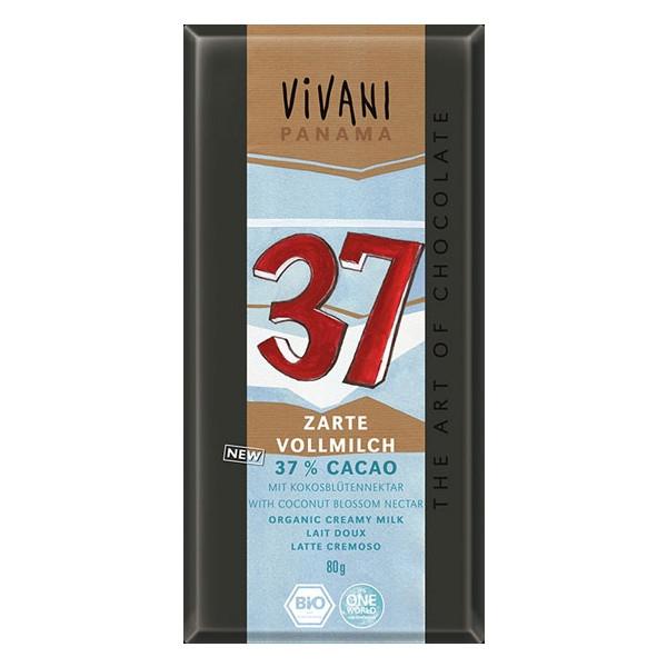 Βιολογική Σοκολάτα Γάλακτος με 37% Κακάο Bio 80γρ., Vivani