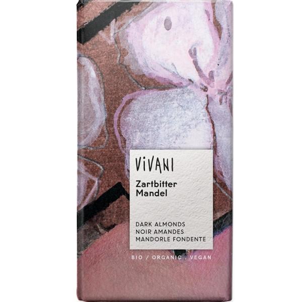 Βιολογική Σοκολάτα Υγείας με Αμύγδαλα Bio 100γρ., Vivani