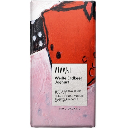 Βιολογική Σοκολάτα Λευκή με Φράουλα Bio 100γρ., Vivani