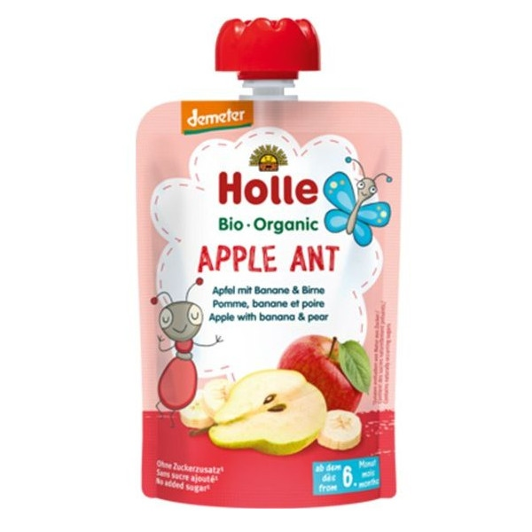 Βιολογικός Πουρές Mπανάνα, Mήλο & Αχλάδι, Bio 100γρ., Holle