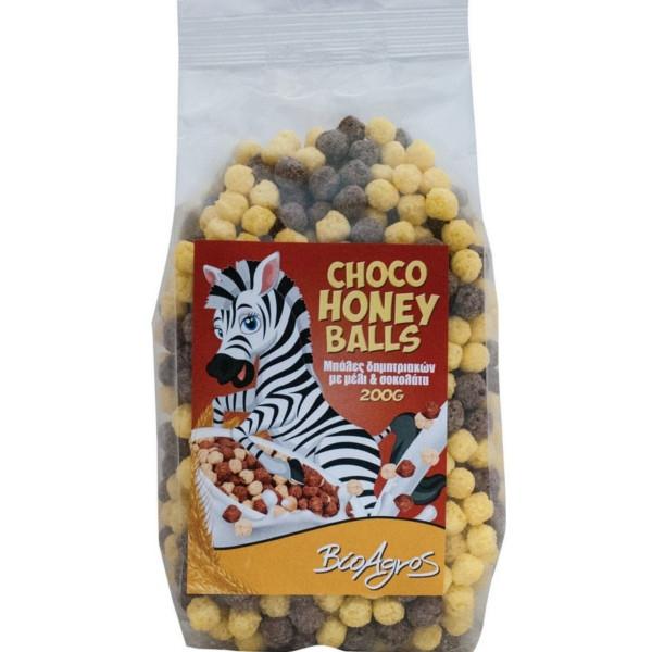 Βιολογικές Μπάλες Δημητριακών με Σοκολάτα & Μέλι, 200 γρ., Bio, Βιοαγρός