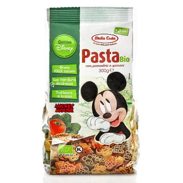 Βιολογικά Τρίχρωμα Ζυμαρικά Mickey Mouse 300 γρ., Bio Dalla Costa