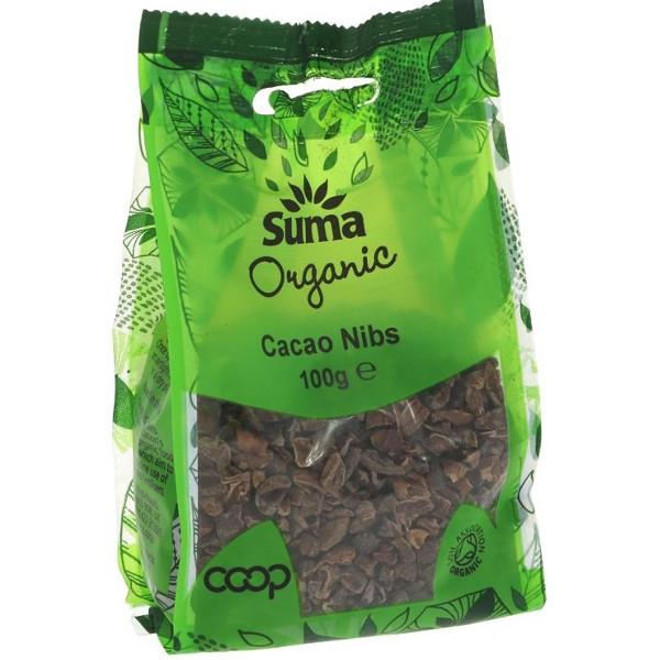 Βιολογικά Κομμάτια Κακάο Cacao Nibs 100γρ., Suma Wholesale
