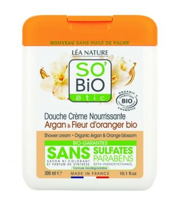 Βιολογικό Αφρόλουτρο με Argan / Άνθη Πορτοκαλιάς 300ml, So Bio
